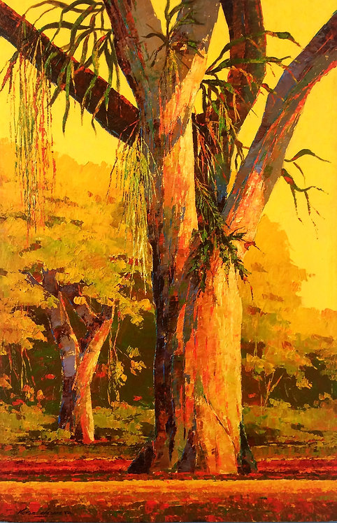 Landscape Painting - Victor Urdaneta - Montanoso en la Tarde