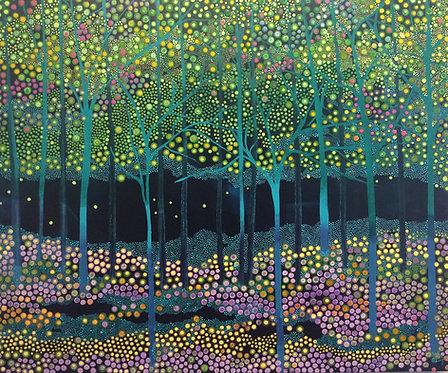 Pointillism Painting - Enriqueta Ahrensburg - Primavera