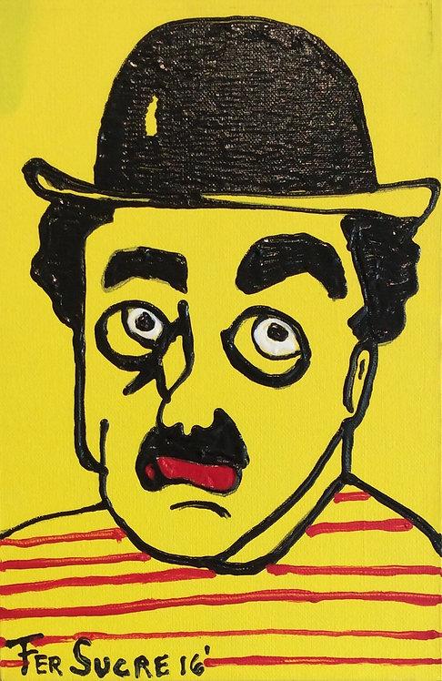 Pop Art Painting - Fer Sucre - Charlie Chaplin