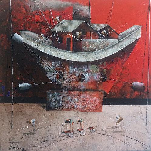 Surrealism Painting - Jose Cordova - El Trapiche Rojo