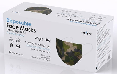 #1 RECOMMENDED - M4M Adult Face Masks (BFE≥90%) CAMO Patterned