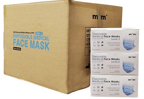 SUPERIOR - M4M Adult Medical Face Masks (BFE ≥98%   PFE ≥98% ) LEVEL 3 - CASE