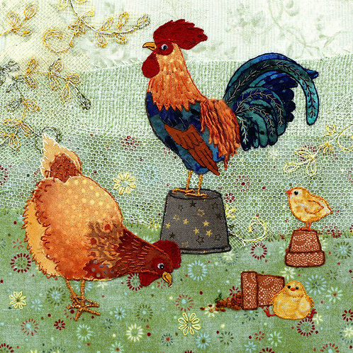 Chickens Cushion Panel