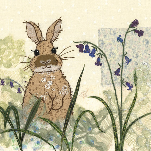 Bluebell Bunny Cushion Panel