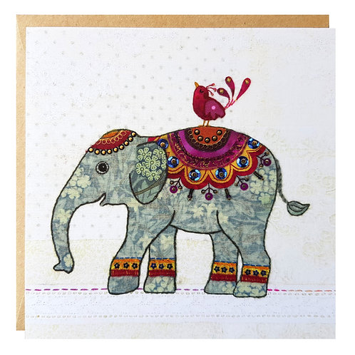 Elephant and Bird Card