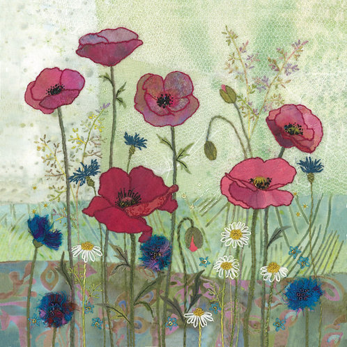 Poppy Meadow Cushion Panel