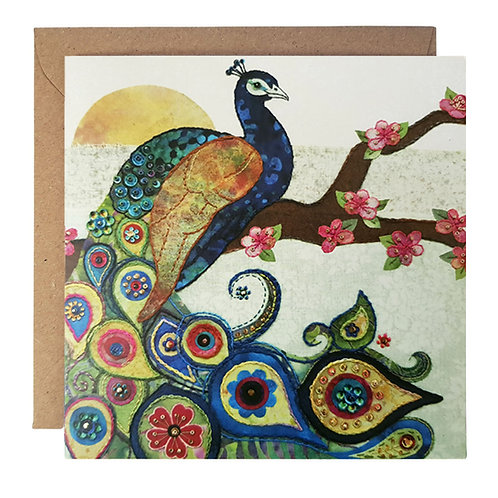 Peacock Greetings Card