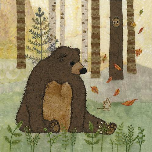Brown Bear Cushion Panel