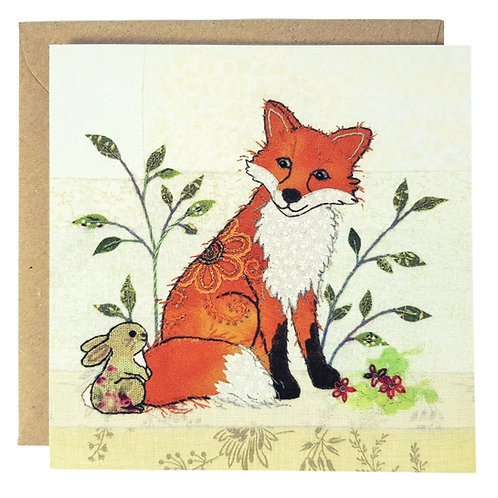 Fox and Rabbit Card