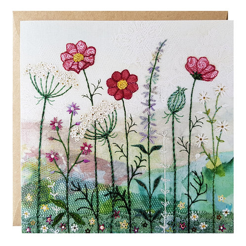 Summer Hedgerow Greeting Card