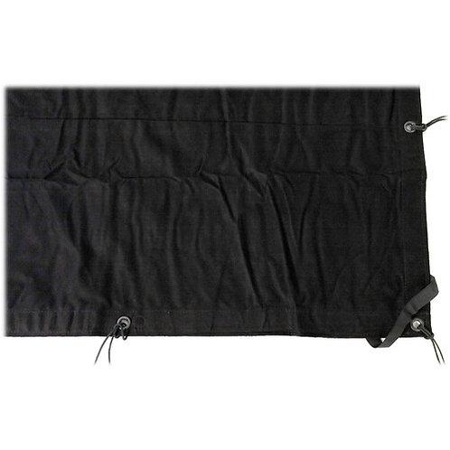 12 x 20 Solid Black with Grommets, Ties & Orange Storage Bag