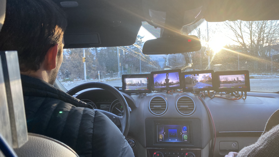 Russian Arm Monitors Inside the Truck