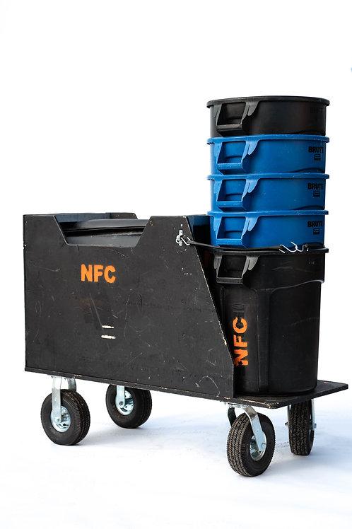 Custom Carpet & Garbage Can Cart
