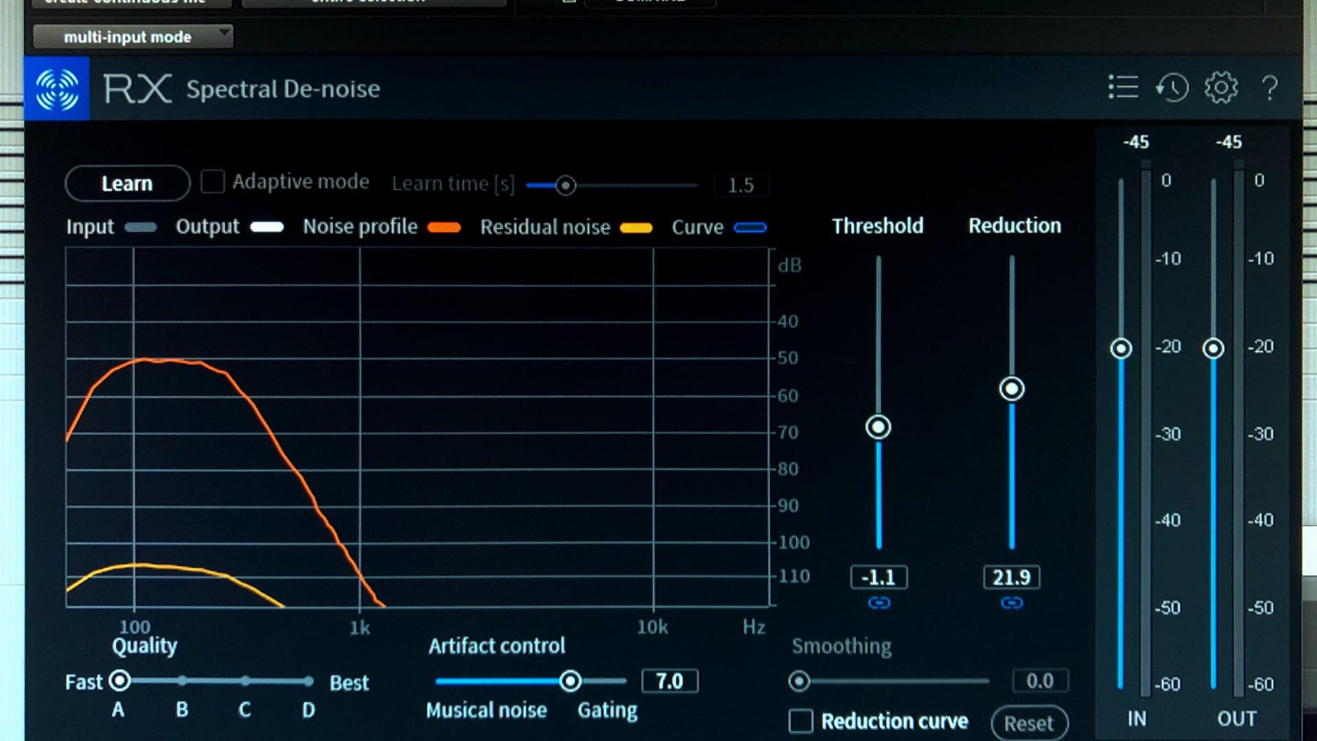 RX Spectral De-noise Plug-In
