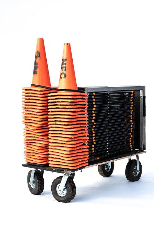 Custom Chair & Traffic Cone Cart