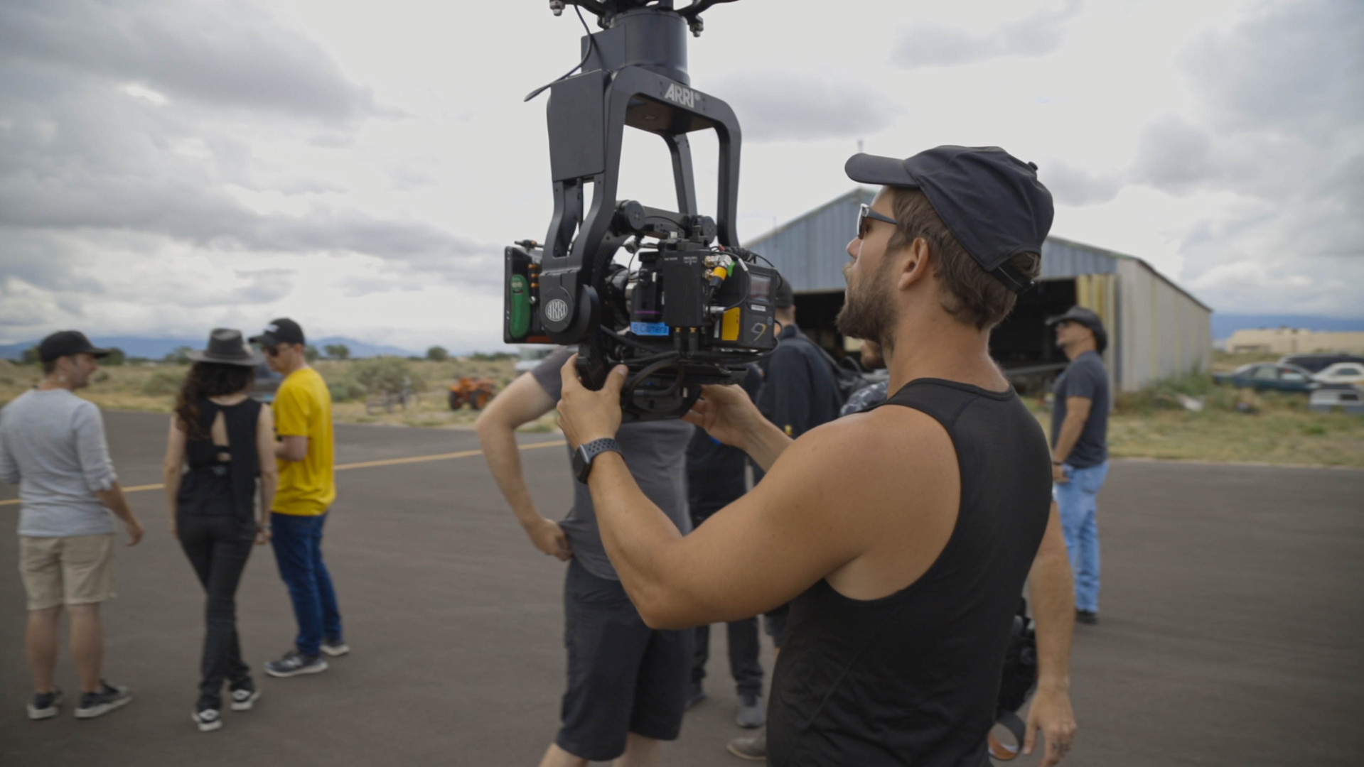 Russ Securing the RED Camera