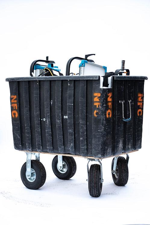 Custom Laundry Tub Cart for Lights