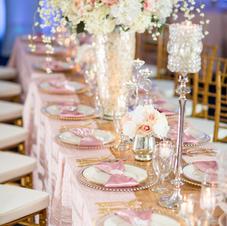 Rose Gold Wedding Fabuleux Event Center