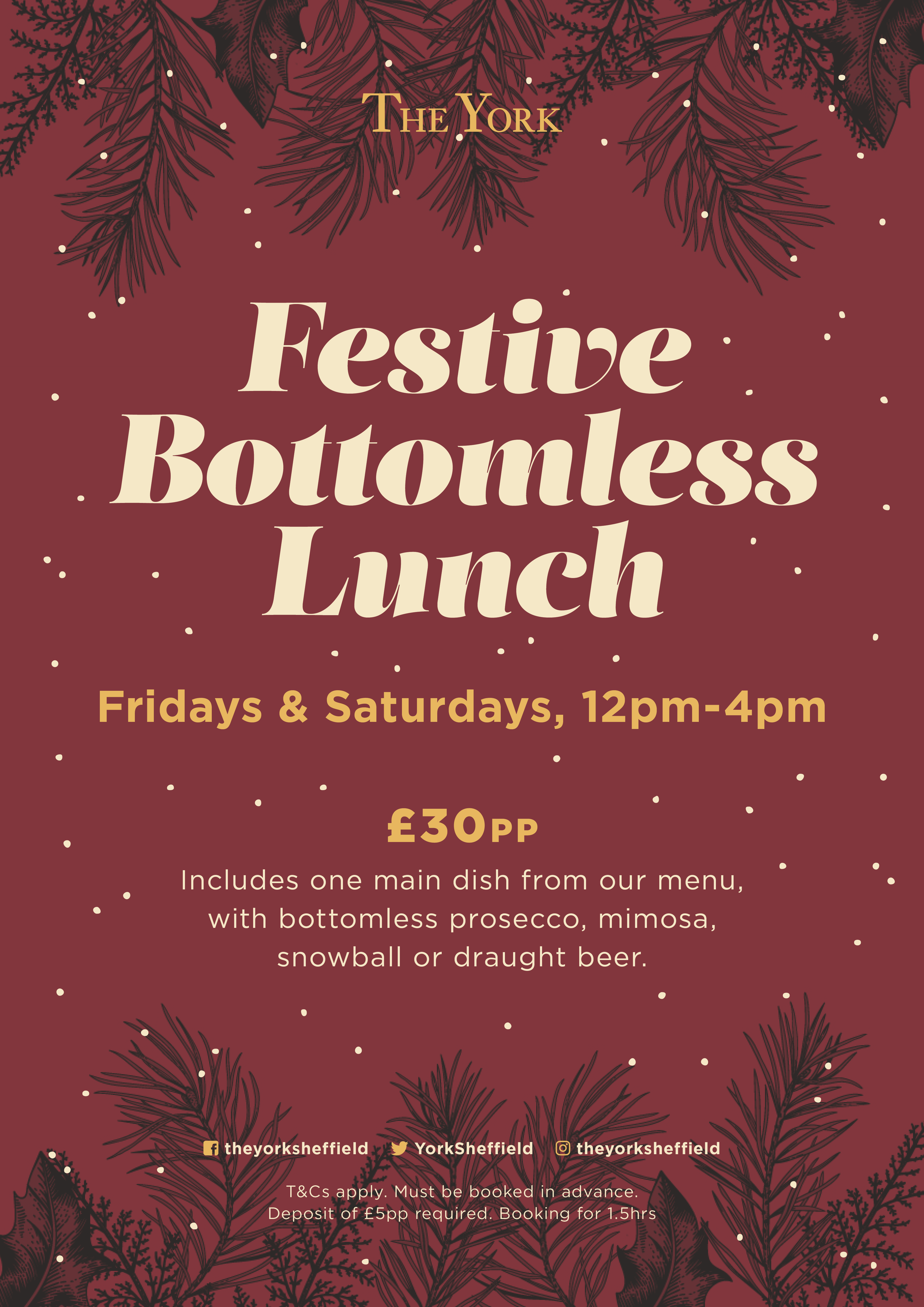 The York Festive Bottomless Lunch