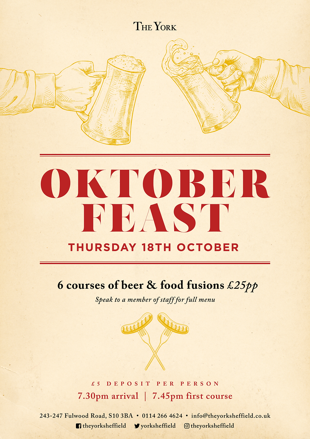 Oktober Feast at The York Sheffield
