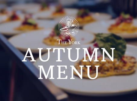 Introducing our Autumn menu