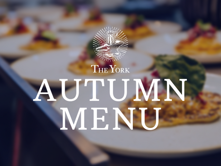Introducing our Autumn menu