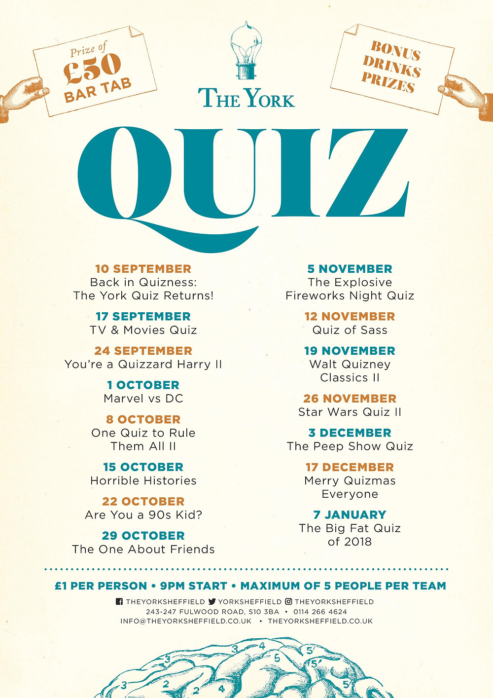 image of the york quiz poster