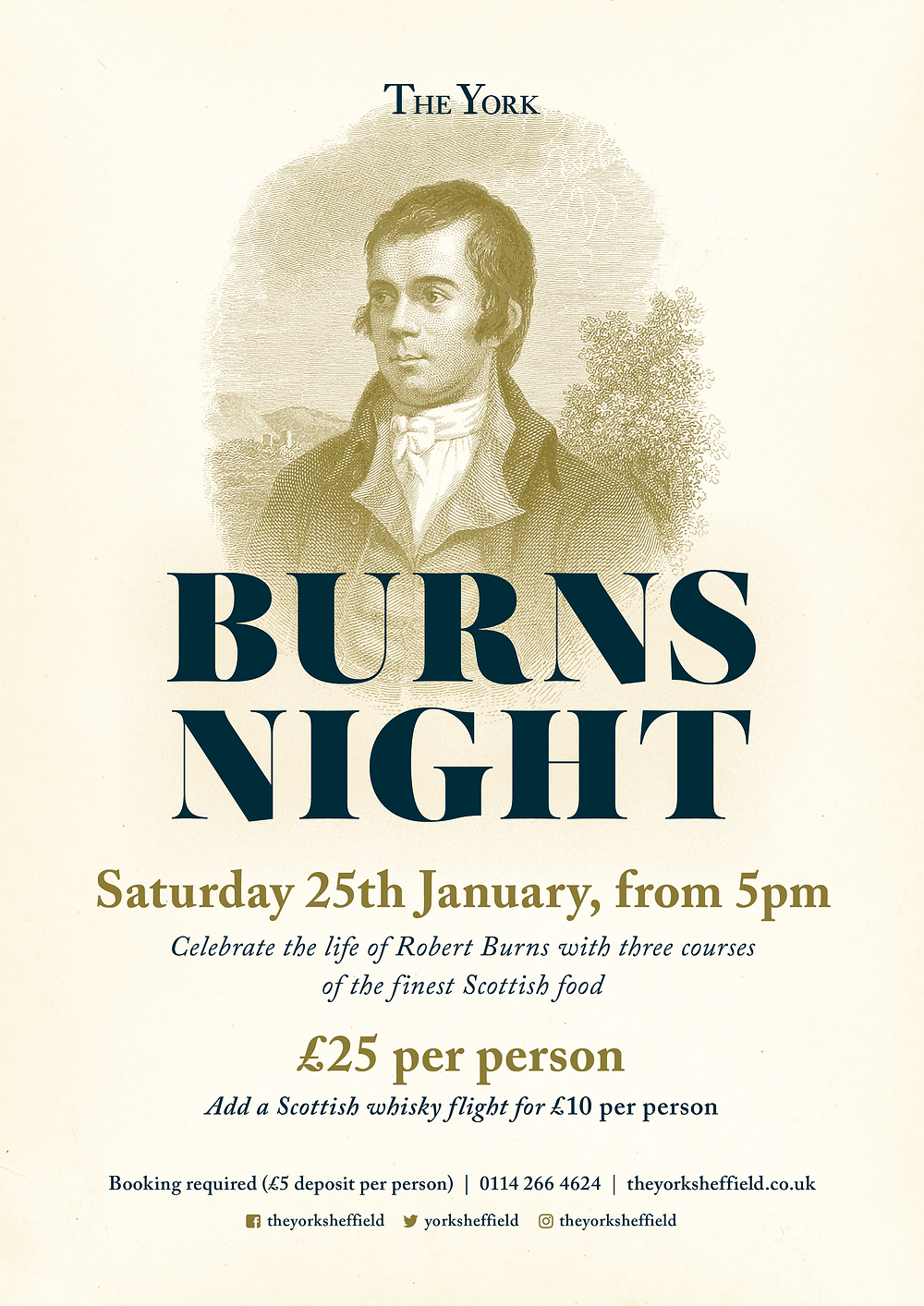 Burns Night Supper CLub at The York