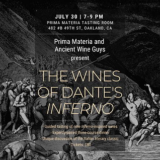 Wines of Dante's inferno dinner