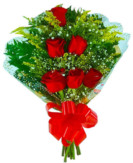 Ramalhete com 06 rosas