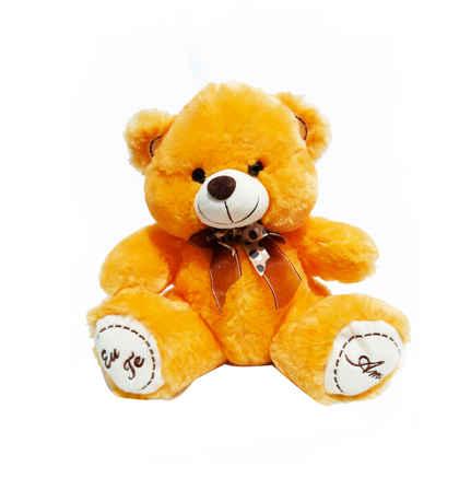 FE-6902 urso pelúcia com laço 30cm