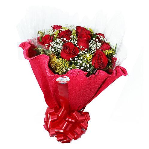 Buquê 12 Rosas Especial C/ Papel Crepom