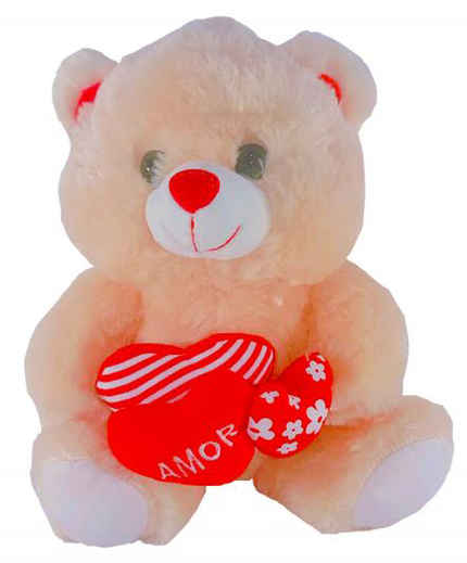 Urso Laço 02 Corações