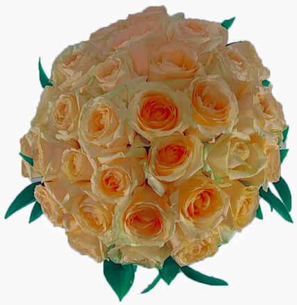 Arranjo com 36 rosas