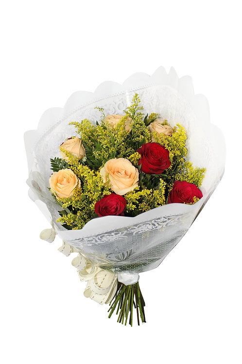 Buquê Misto 12 Rosas