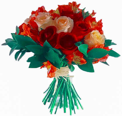 36 rosas coloridas