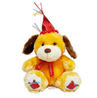 FE-6626 urso pelúcia feliz aniversário 30 cm