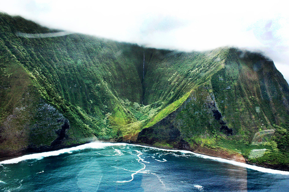 molokai, hawaii, helicopter tour
