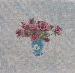 jasperware vase-blue