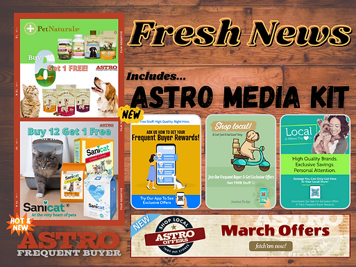 Astro Fresh News | Getting Ready for March!