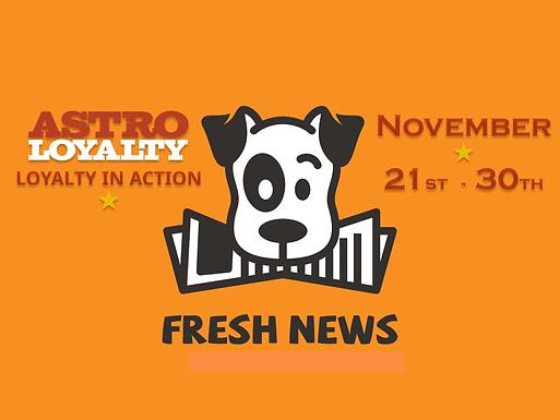 Astro Weekly News | NOV 21st - 30th