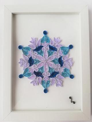 Cuadro Mandala Copo de Nieve - Filigrana