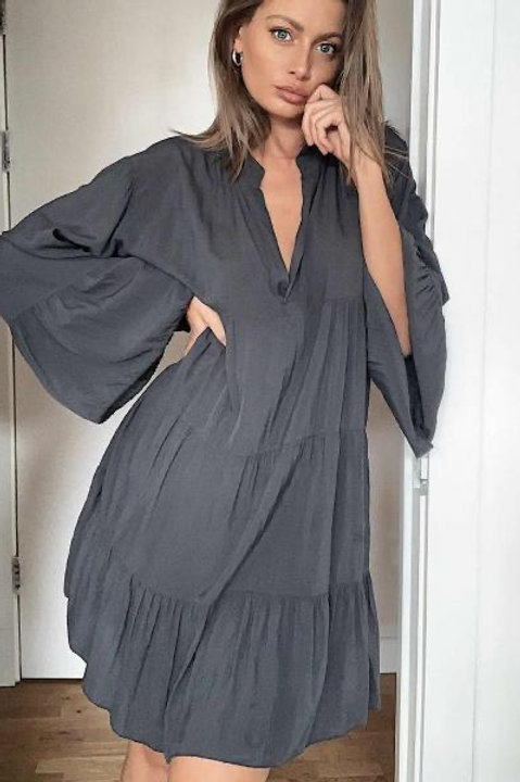 Saint.A, Urban Grey Boho Shirt Dress