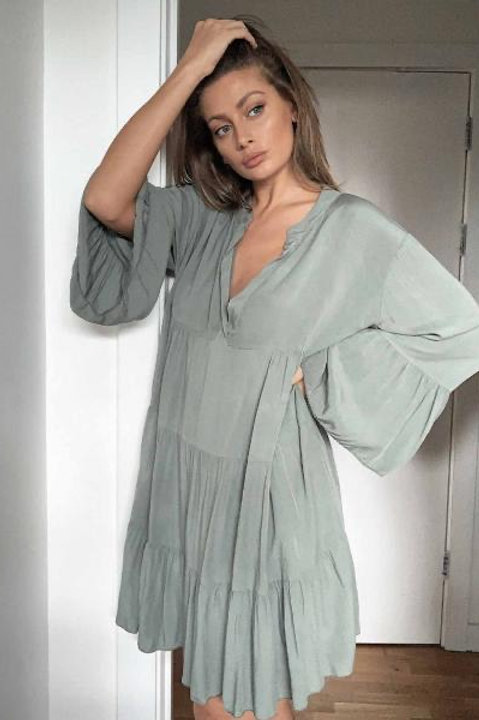 Saint.A, Urban Khaki Boho Shirt Dress