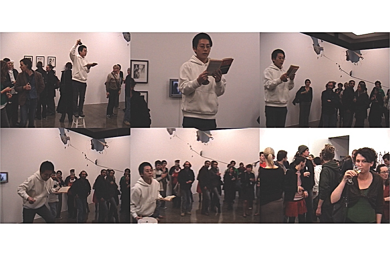 READING SERIES Auckland Artspace by artist Frank Fu