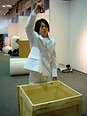 Just Roll Up The Confidence Man performance by artist Frank Fu