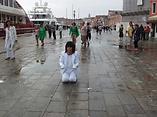 I Love Venice Biennale Venice Biennale Loves Me performance by artist Frank Fu