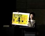Welcome to the bullshit boring art world Christchurch Biennial performance by artist Frank Fu