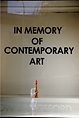 In Memory of Contemporary Art performance by artist Frank Fu