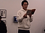 Reading Series Auckland Artspace performance by artist Frank Fu